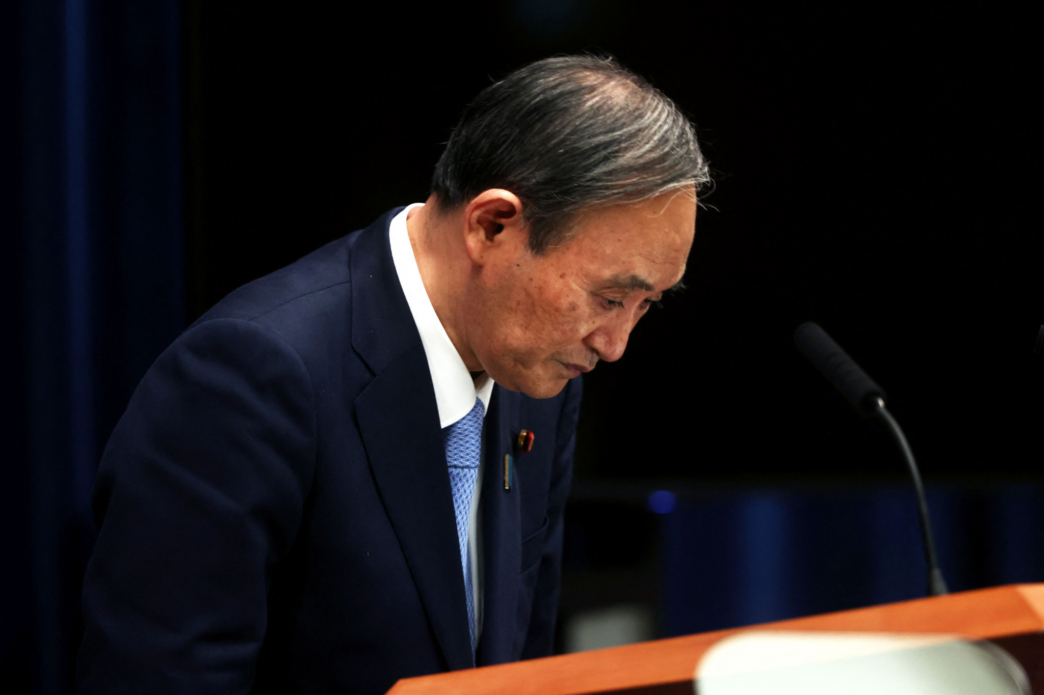 Japanese Prime Minister Yoshihide Suga will not hold a reception for foreign dignitaries ©Getty Images