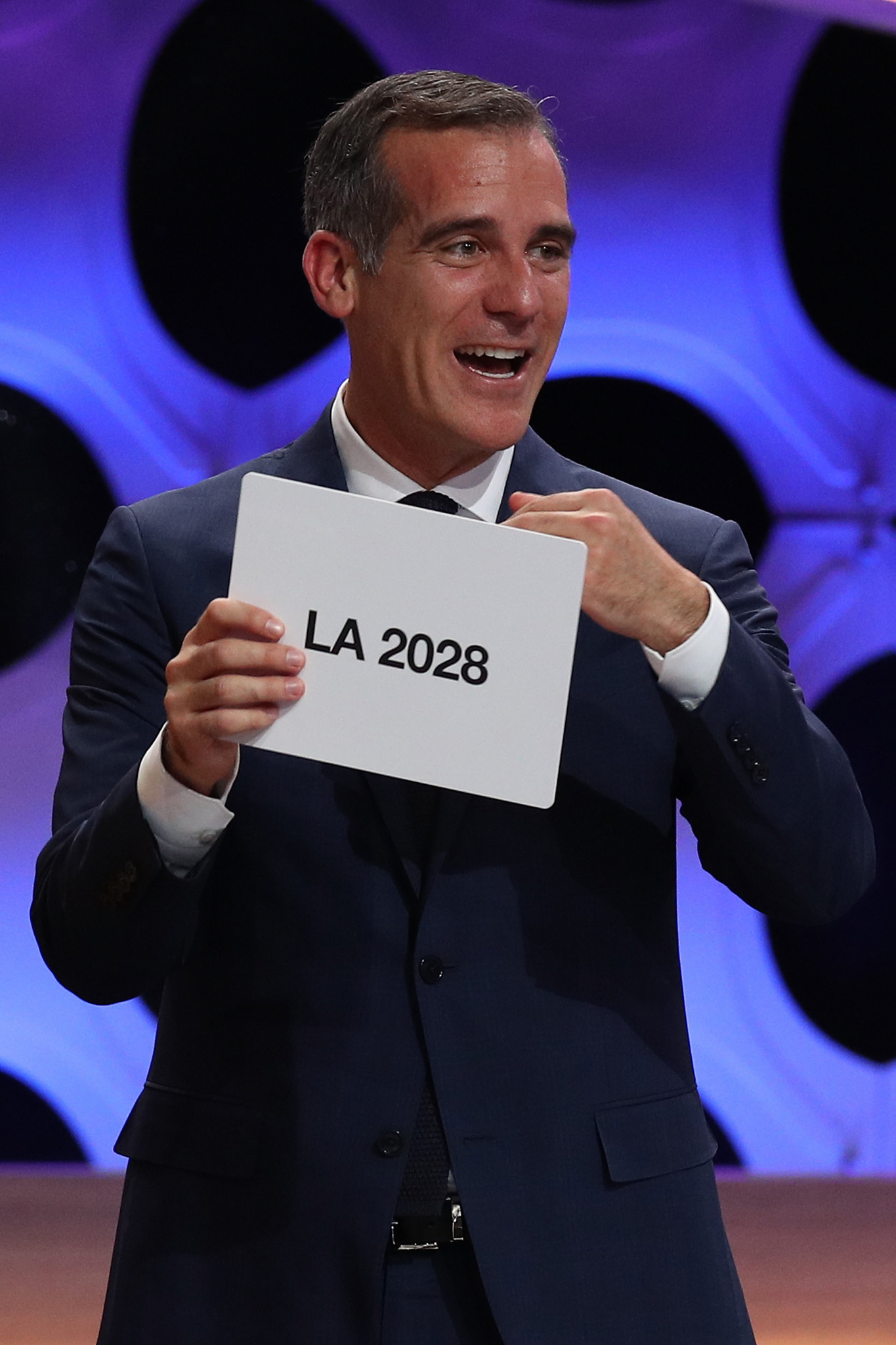 Los Angeles Mayor Eric Garcetti played a key role in the city being awarded the Olympic Games for a third time ©Getty Images