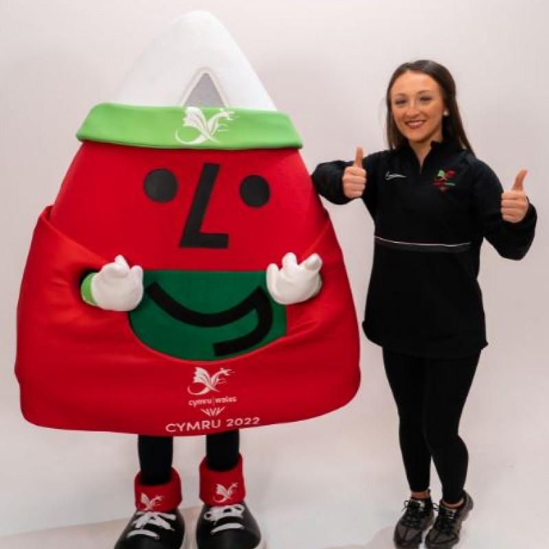 Team Wales mascot for Birmingham 2022 makes public debut