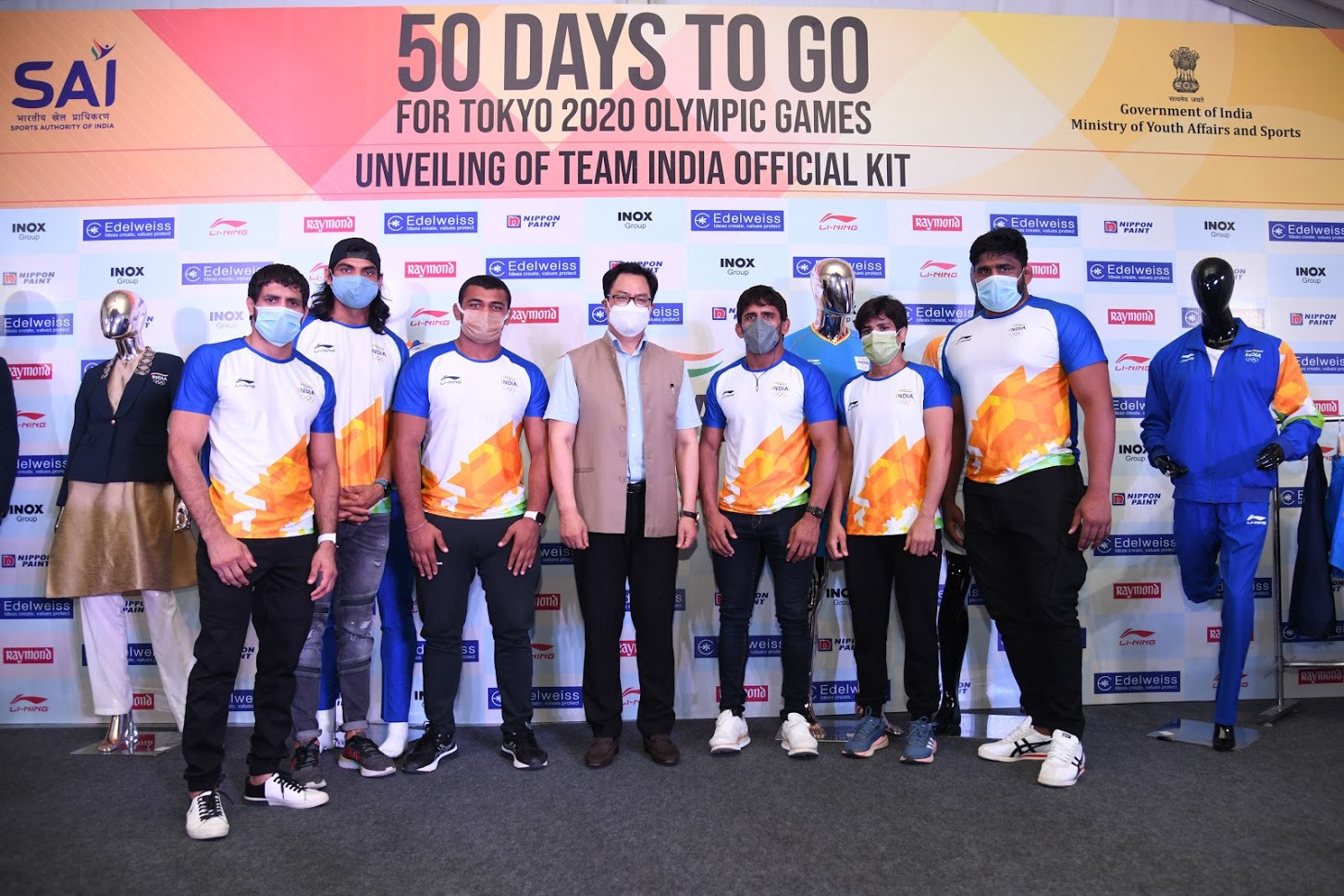 Indian kit for Tokyo 2020 unveiled