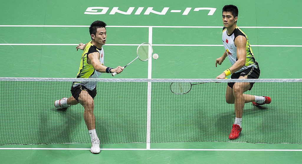 China's Cai Yun, right, and Fu Haifeng, Olympic men's doubles silver medallists in 2008 and champions in 2012, have been added to the BWF Hall of Fame ©Getty Images