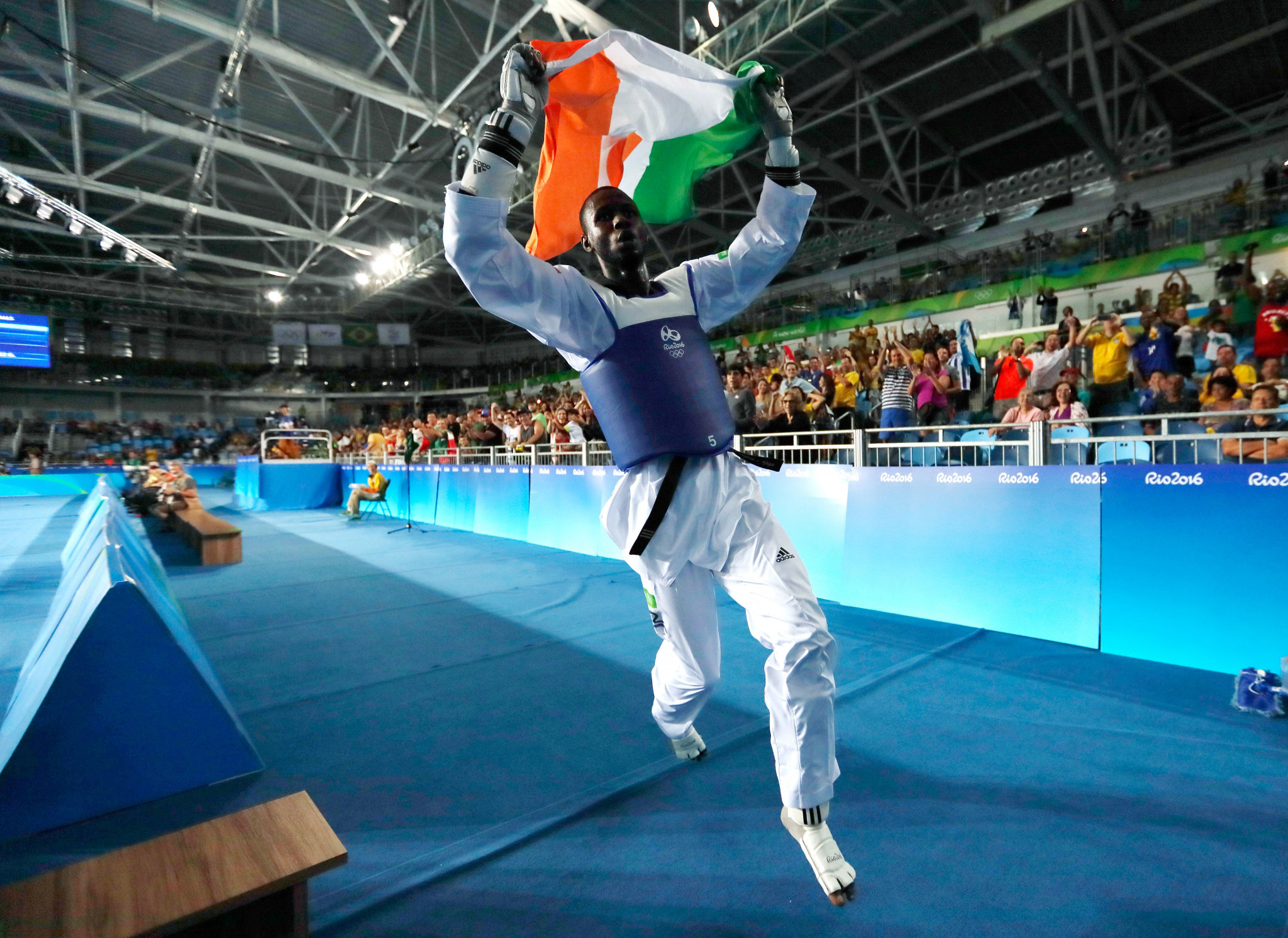 Niger's Olympic silver medallist Abdoul Razak Issoufou also topped the podium in Senegal ©Getty Images
