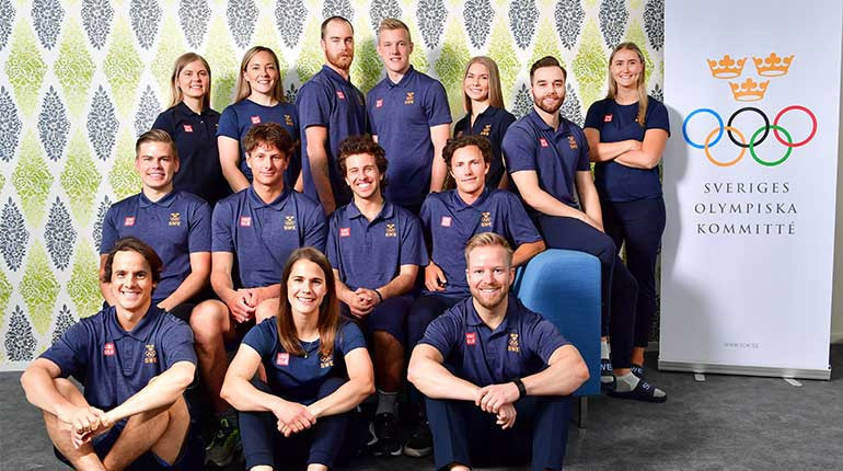 The latest tranche of selections for the Swedish team at the Beijing 2022 Winter Olympics contains the curling teams that took women's gold and men's silver at the Pyeongchang 2018 Winter Olympics ©SOK
