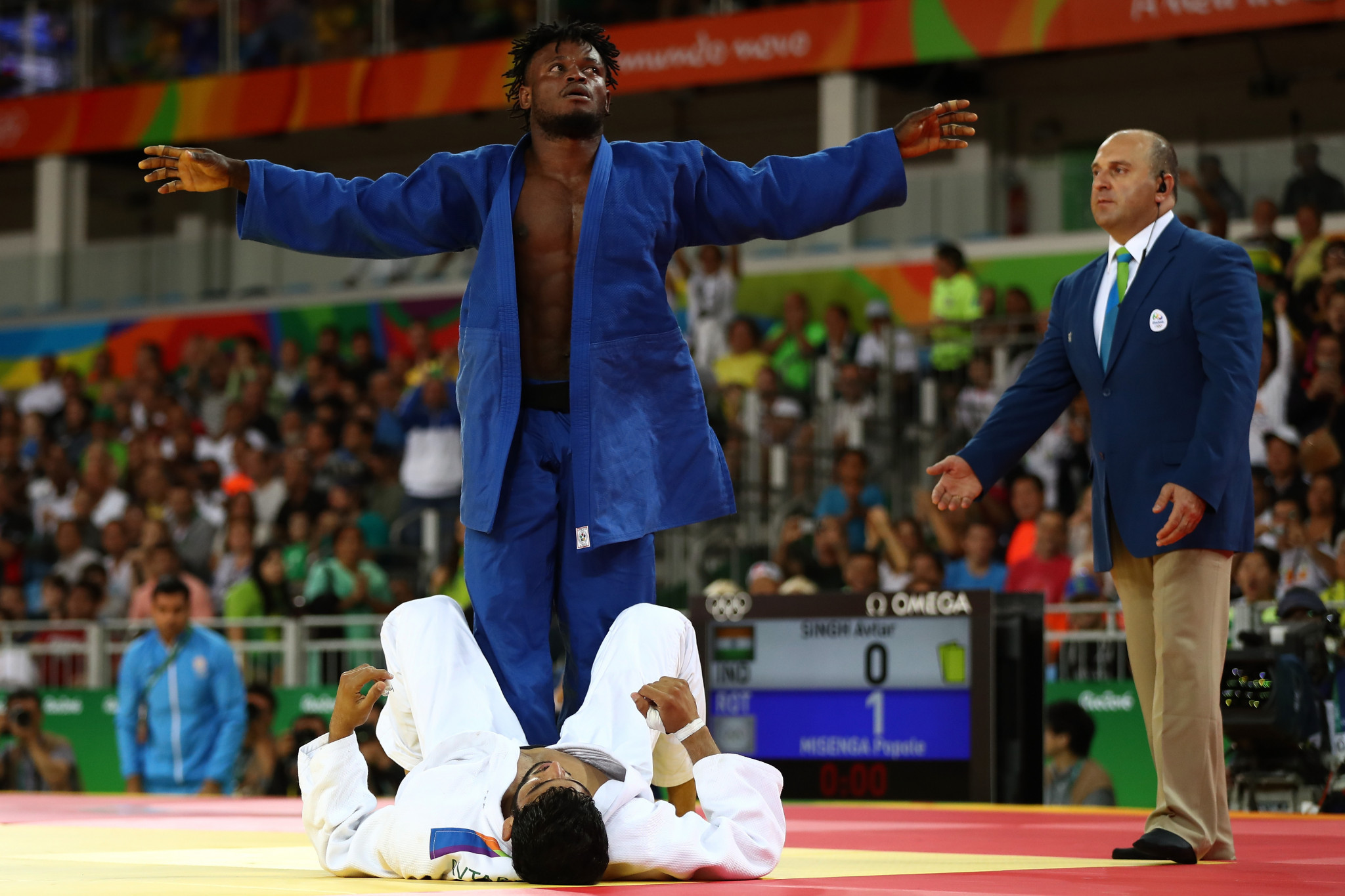 Popole Misenga was part of the Olympic Refugee Team when it made its debut at Rio 2016 ©Getty Images