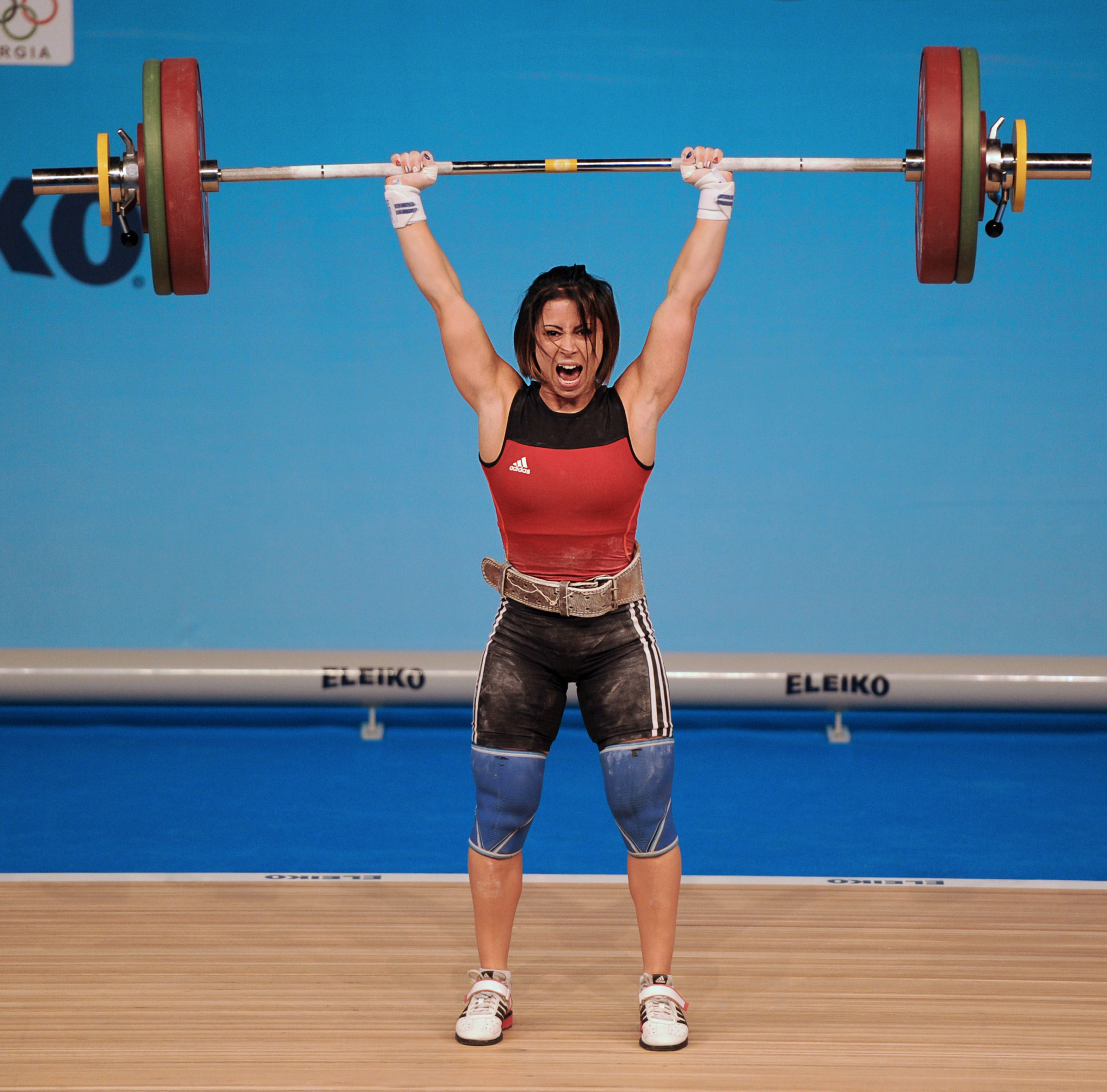 France's Anaïs Michel is among weightlifters waiting to hear whether they have qualified for Tokyo 2020 ©Getty Images