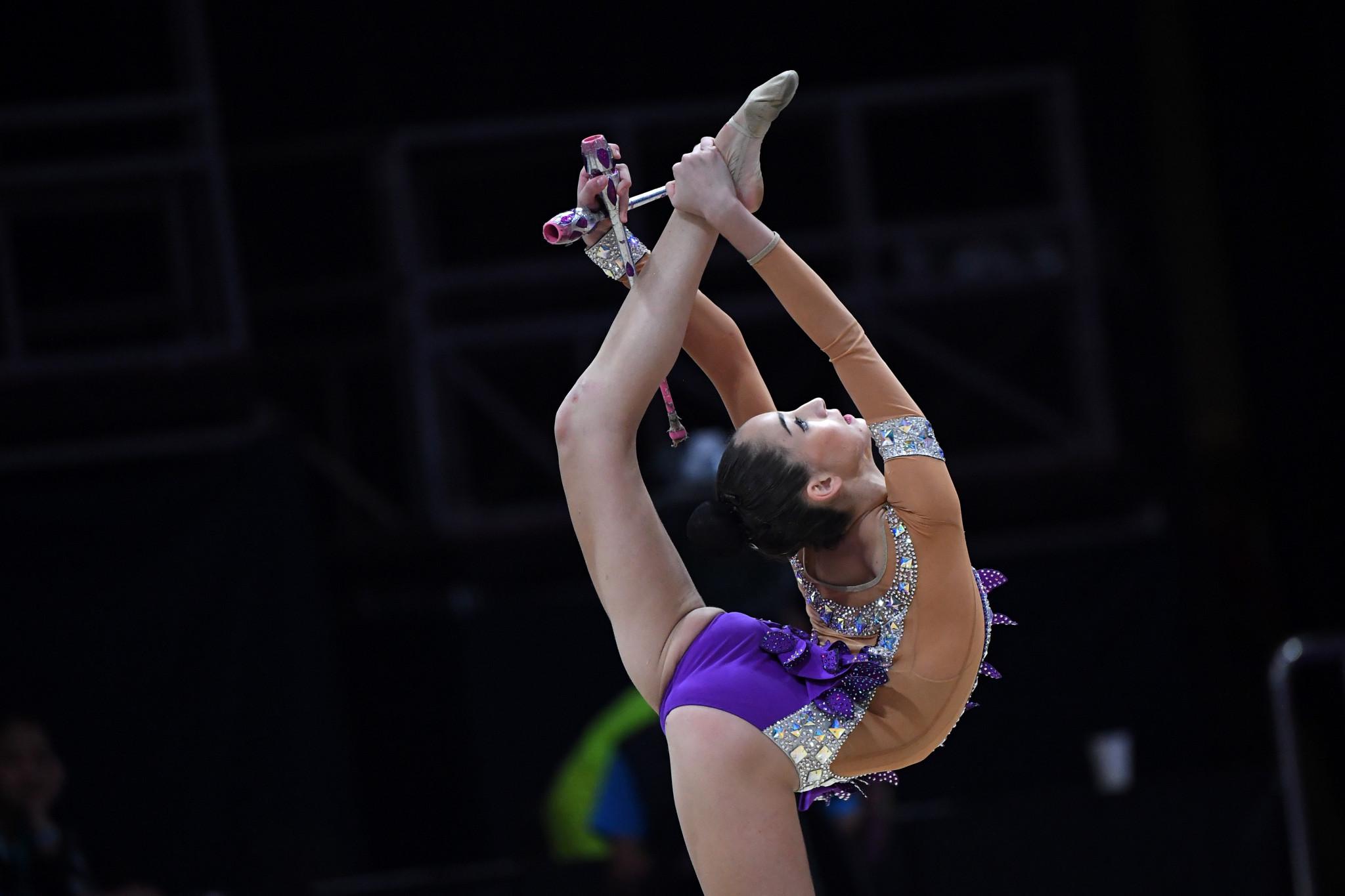 Adilkhanova and Zhao win individual apparatus titles at Asian Rhythmic Gymnastics Championships