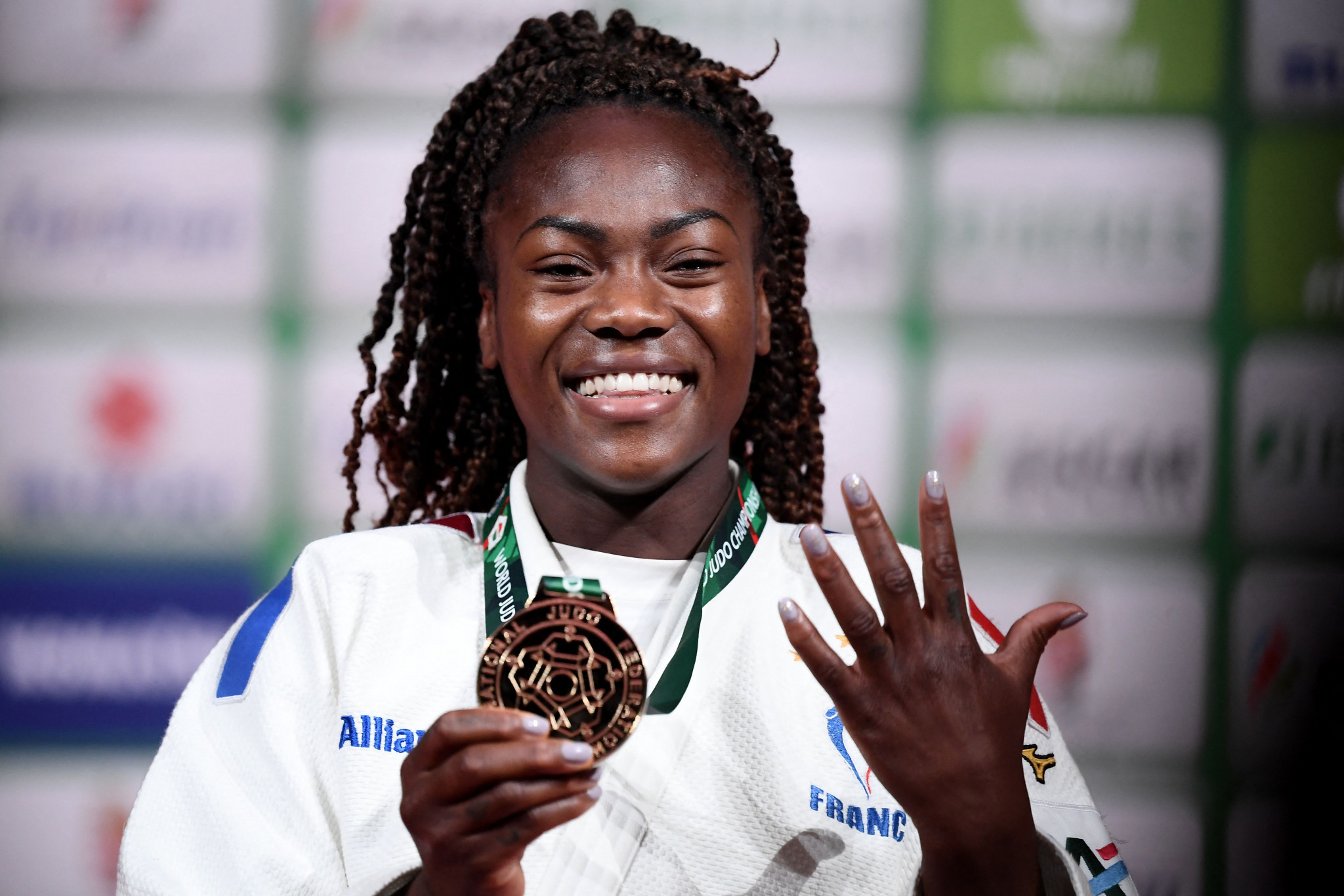 France's Agbegnenou captured her fifth world title with an impressive performance in Budapest ©Getty Images