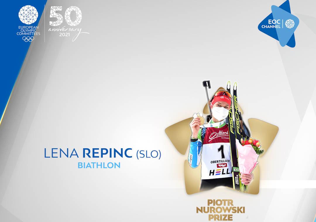 Lena Repinc has won the EOC Piotr Nurowski Prize ©EOC