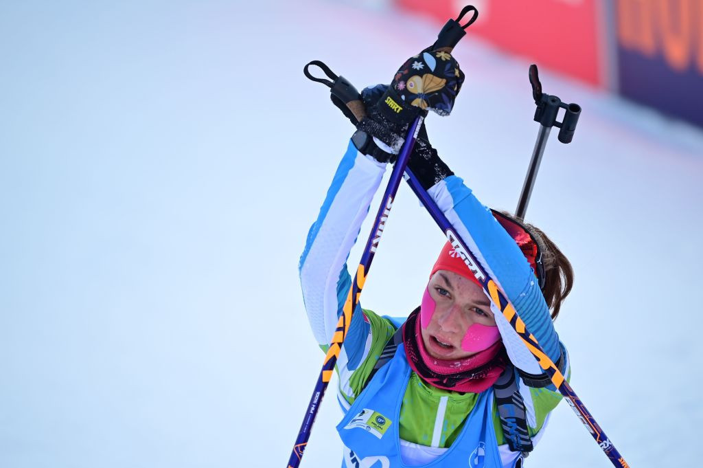 Lena Repinc won two gold medals at the IBU Youth/Junior World Championships in March ©Getty Images