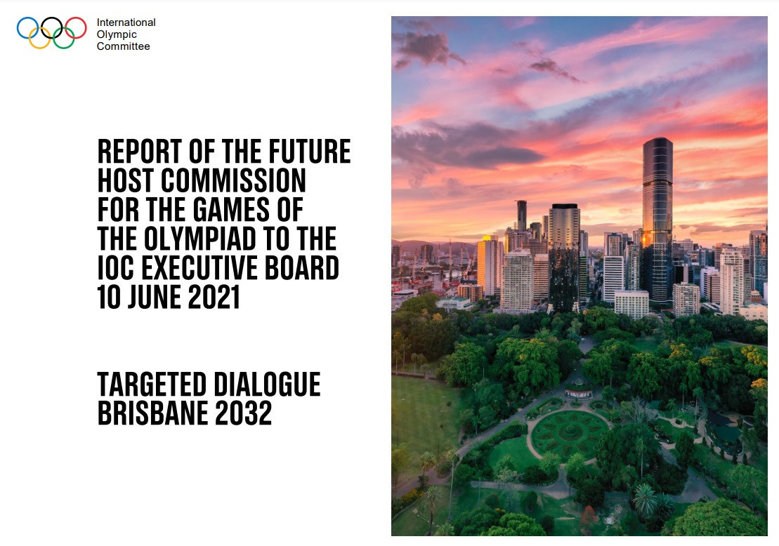 The IOC published its glowing report on Brisbane 2032, used as the basis to recommend the Australian city be awarded the Games ©IOC