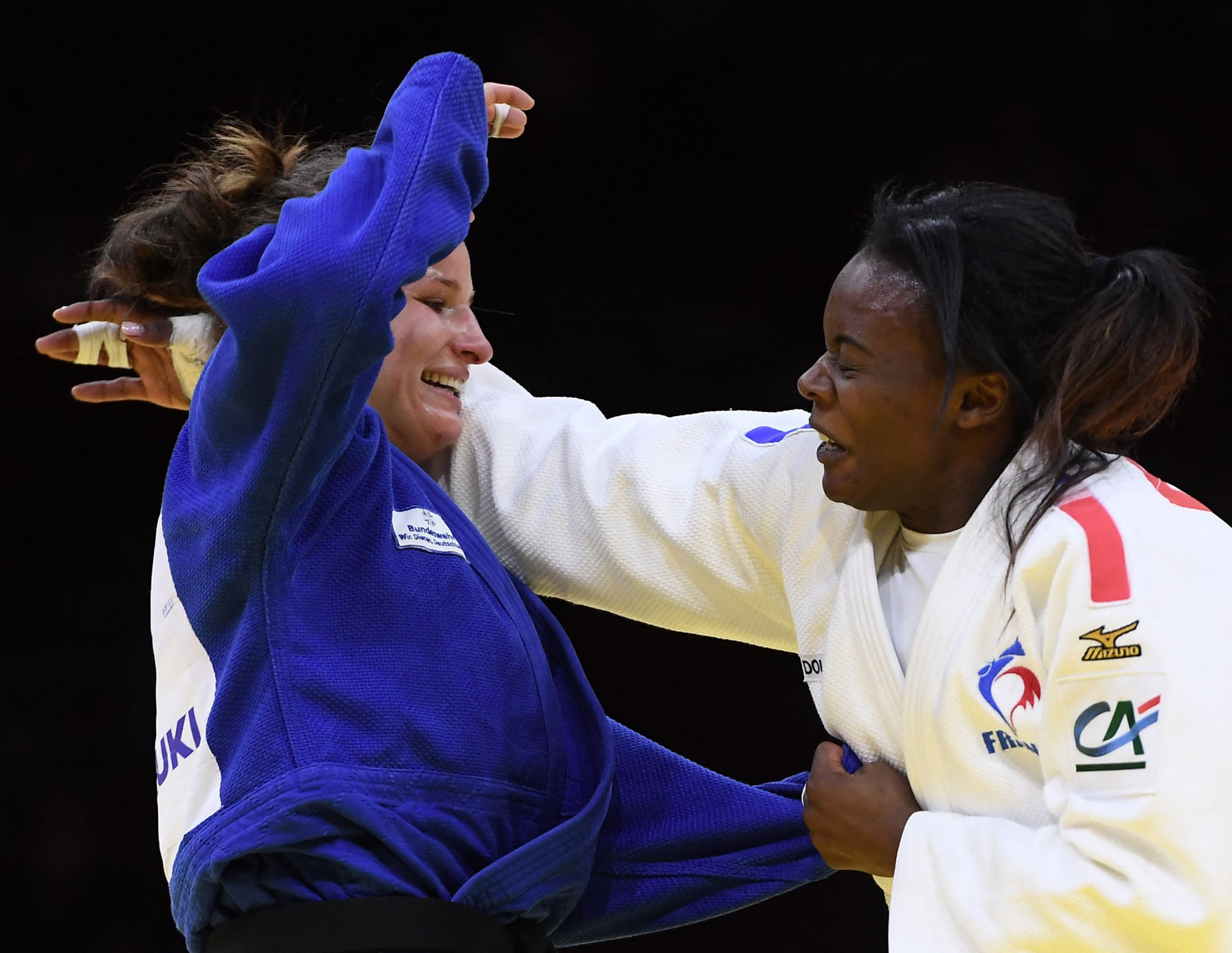 Anna Maria Wagner defeated Madeleine Malonga in the women's under-78kg final ©Getty Images