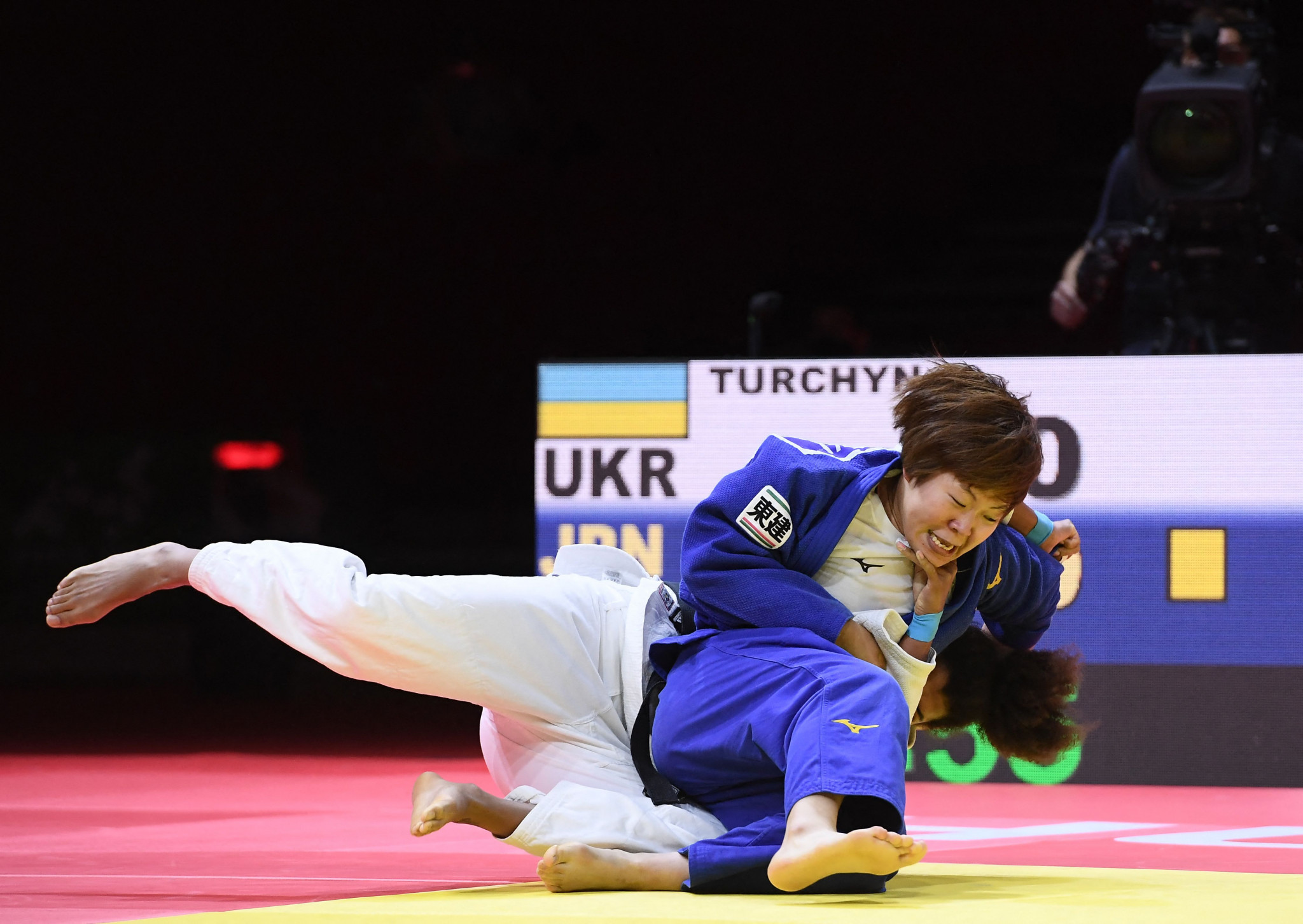 Mami Umeki of Japan added a bronze to her world gold and silver with a win over Anastasiya Turchyn ©Getty Images