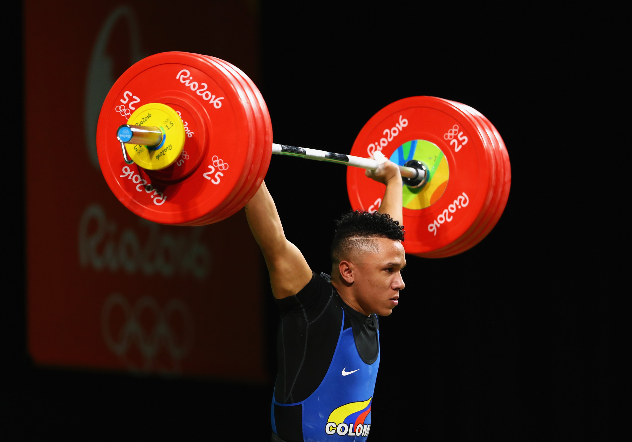 Luis Mosquera, a bronze medallist at Rio 2016, is among the Colombian weightlifters that may have to miss Tokyo ©Getty Images