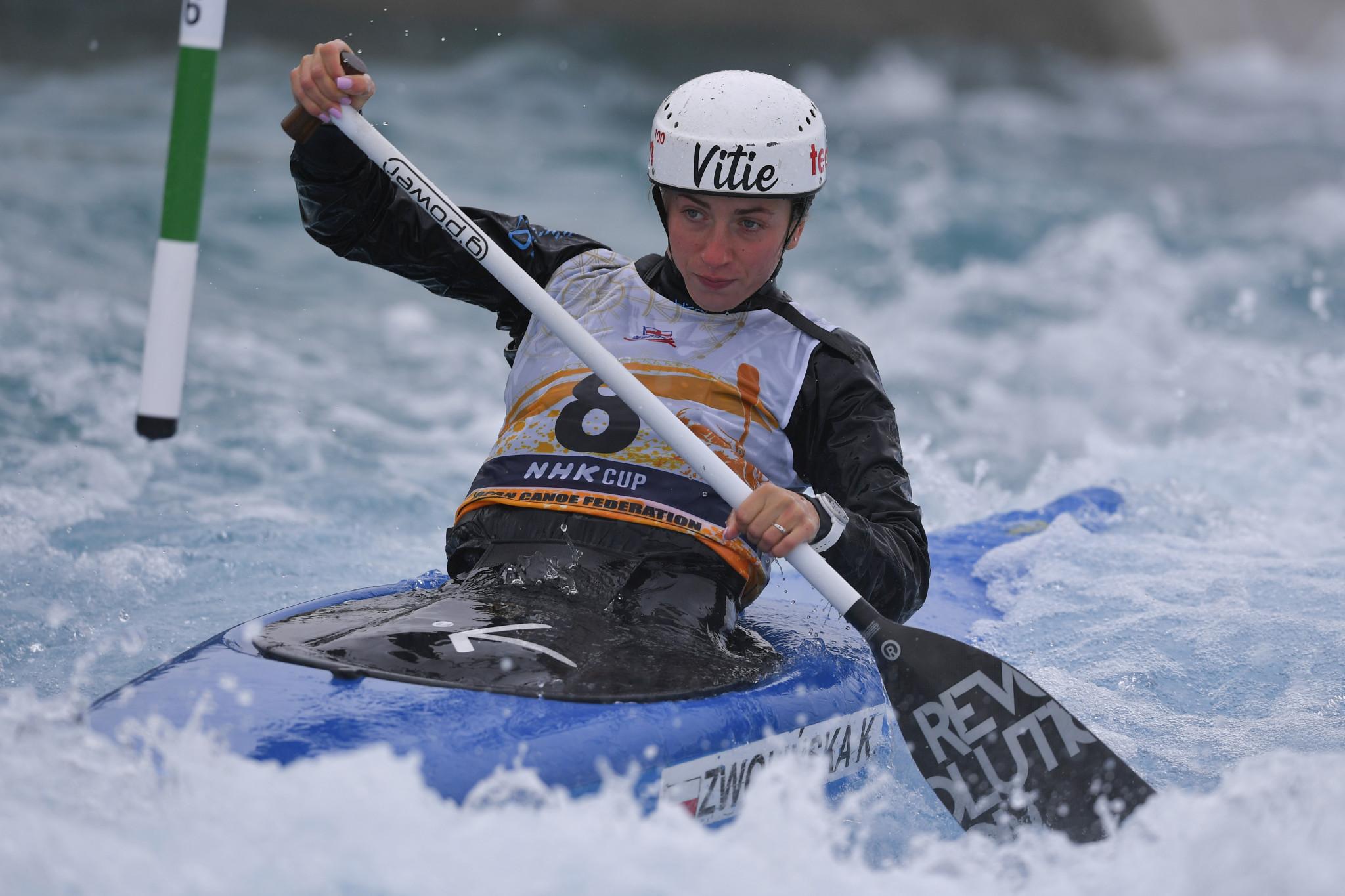 Klaudia Zwolińska won women's kayak gold in a Polish one-two ©Getty Images