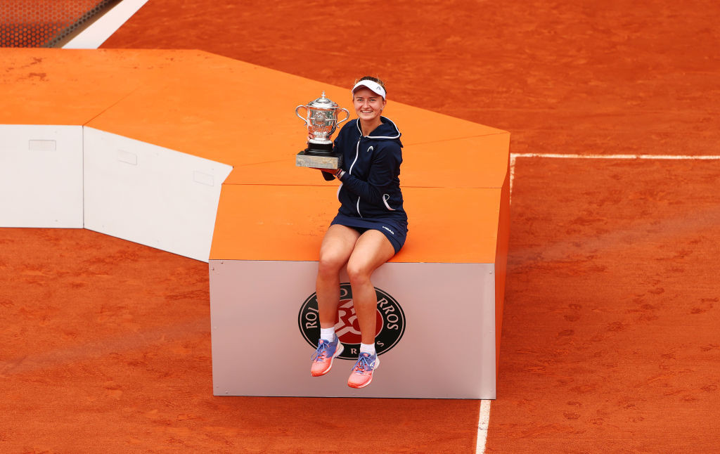 Barbora Krejčíková could add the doubles crown to her singles title at Roland Garros tomorrow ©Getty Images