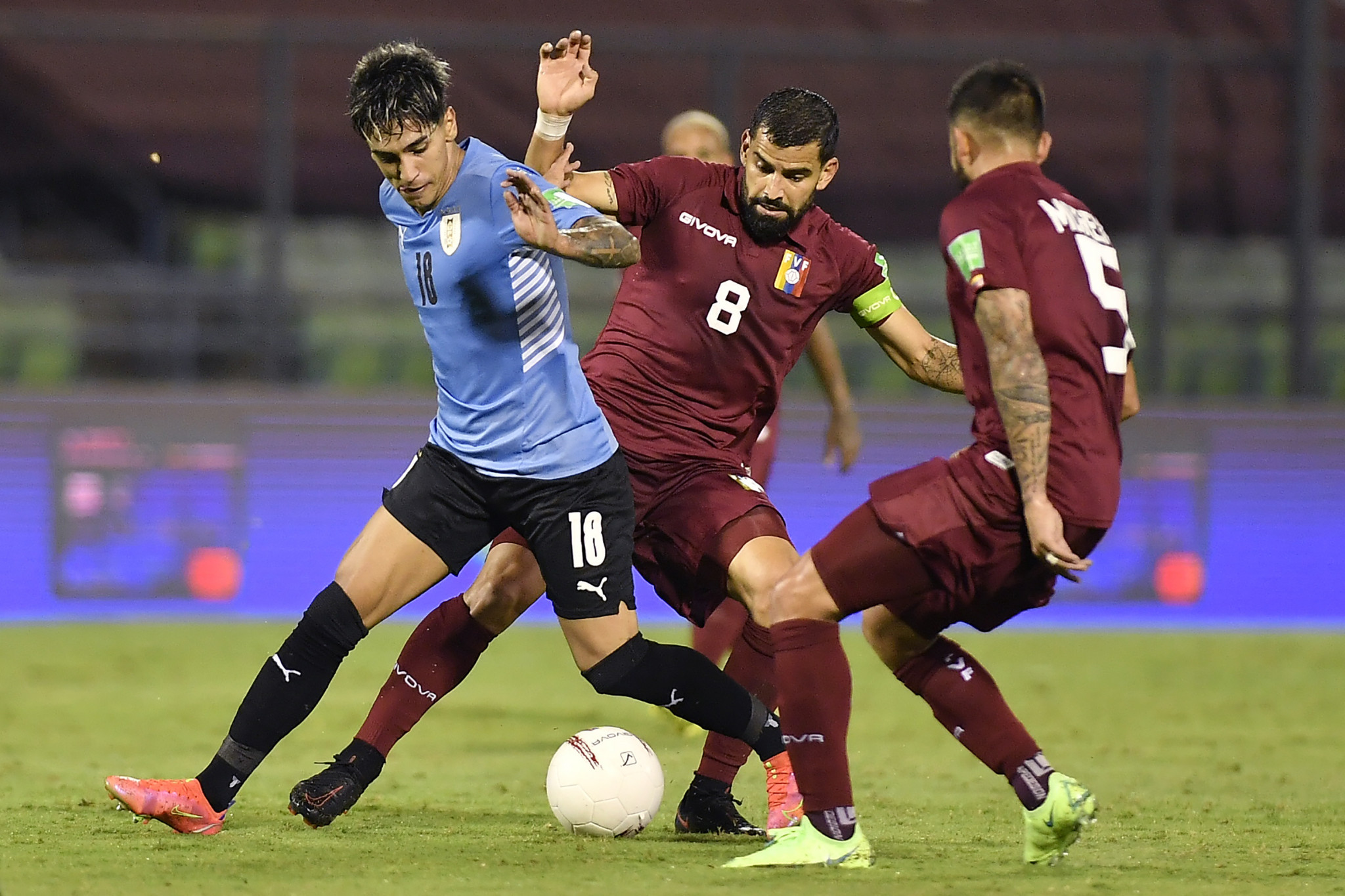Captain Tomás Rincón, centre, is among the Venezuelan players to contract coronavirus ©Getty Images