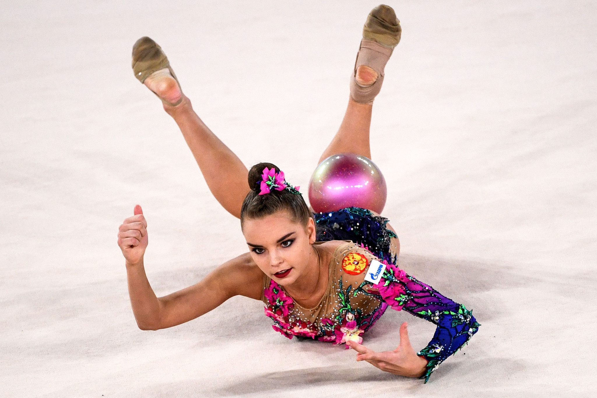 Dina Averina won four medals - three of them gold - as the European Rhythmic Gymnastics Championships concluded in Varna ©Getty Images