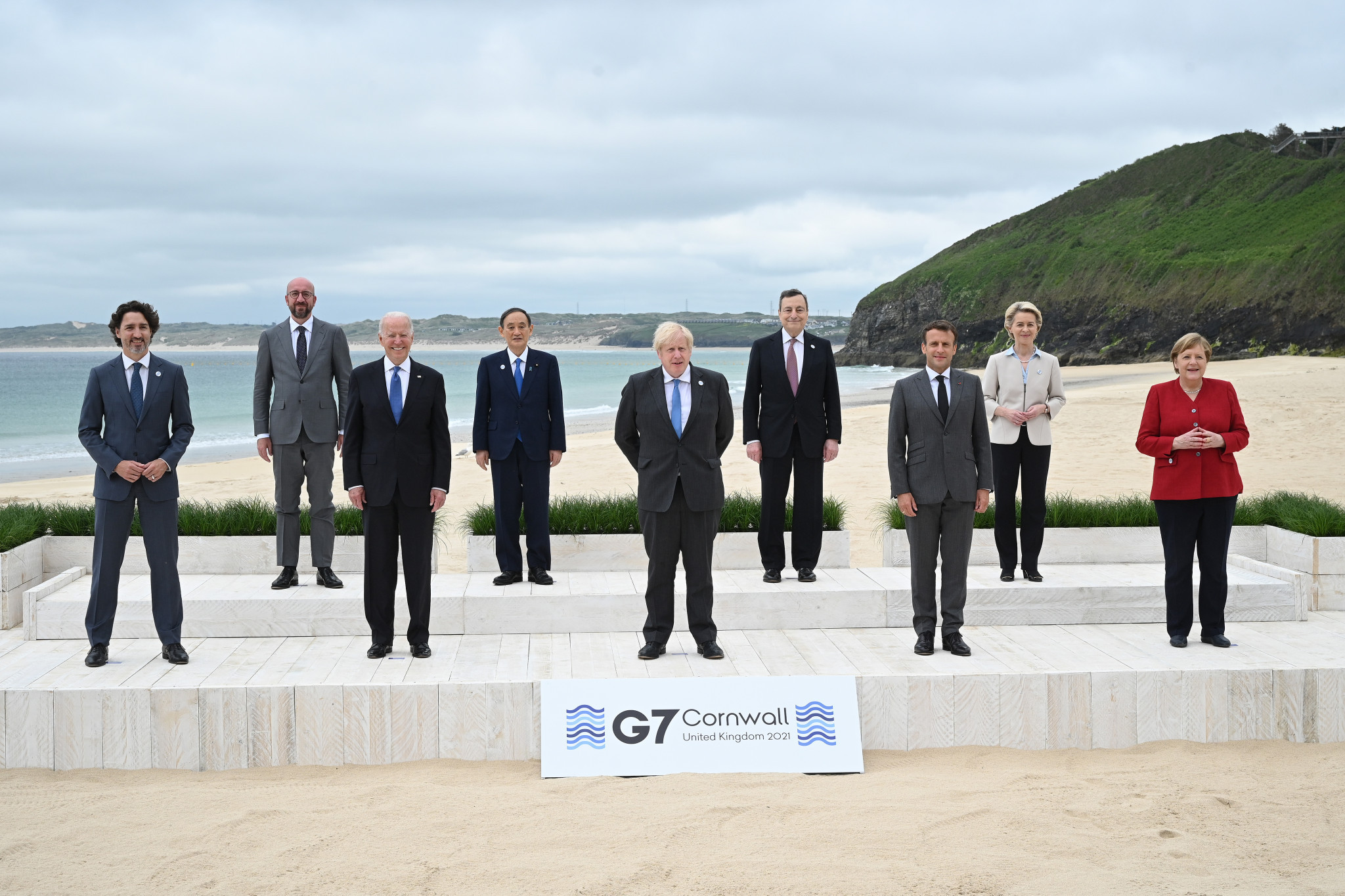 """G7 leaders - pictured with leading European Union officials - have reiterated """"our support for the holding of the Olympic and Paralympic Games Tokyo 2020 in a safe and secure manner"""" ©Getty Images"""