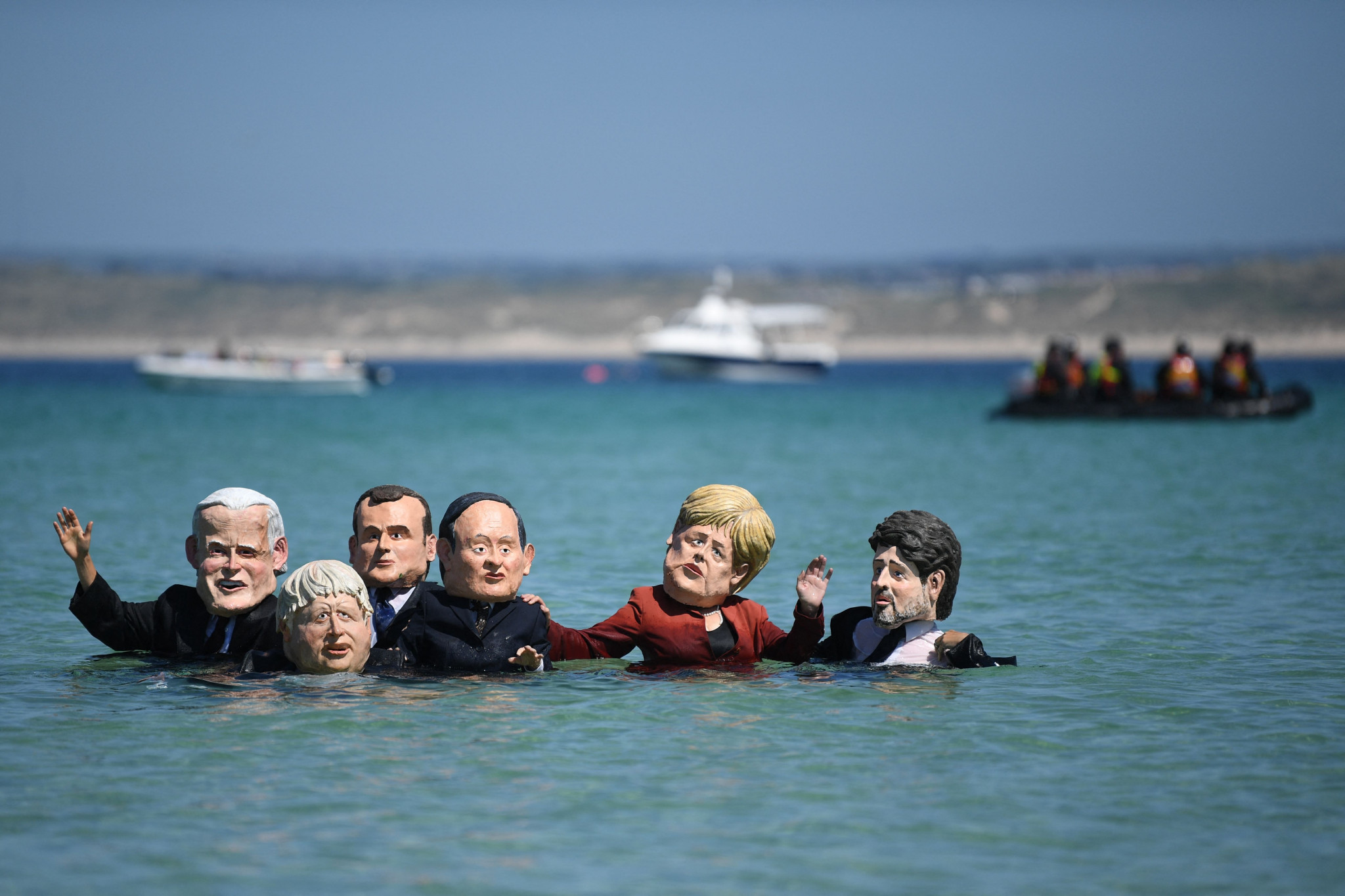 Environmental activists have made their presence felt at the G7 summit in Cornwall  ©Getty Images
