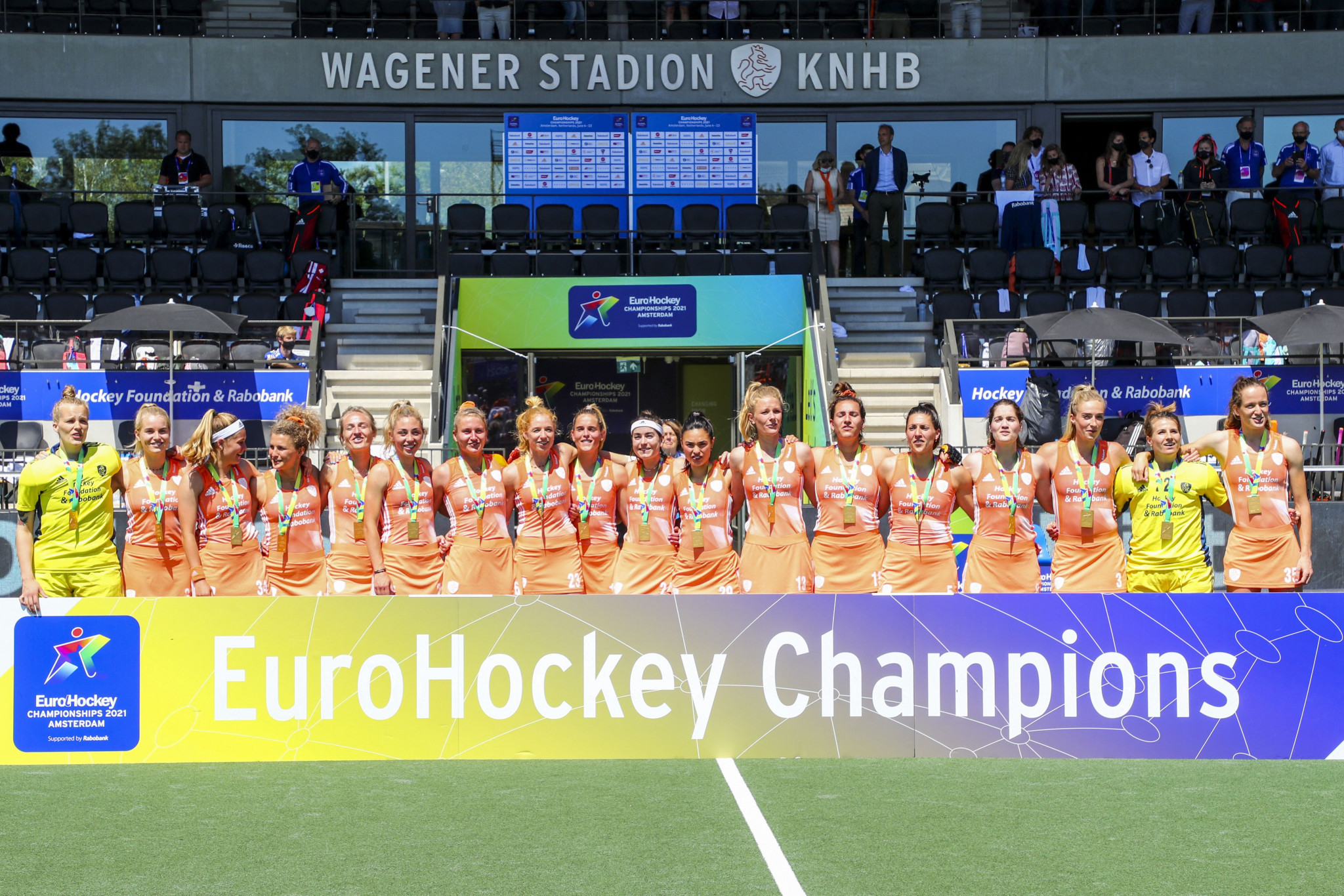 The Netherlands beat Germany 2-0 to secure the the women's EuroHockey Championship title for the third successive time ©Getty Images