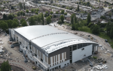 Tiling of competition pool begins at Birmingham 2022 aquatics centre