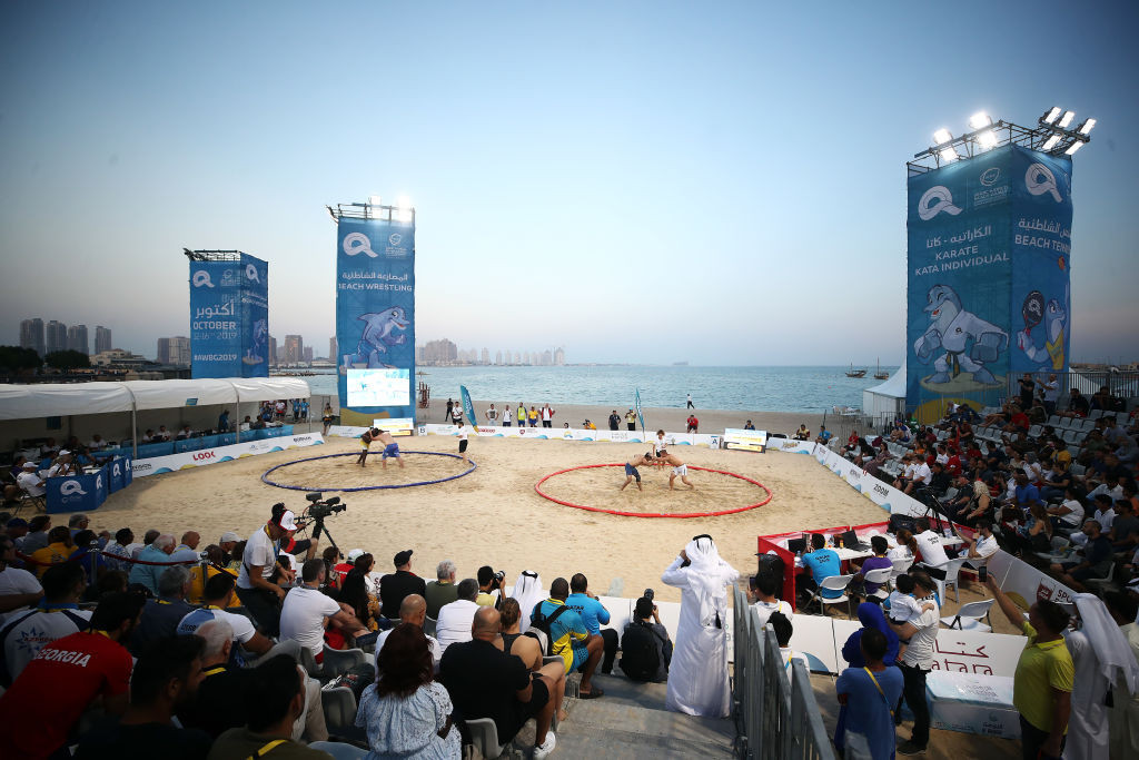 Doha hosted the first World Beach Games in 2019 ©Getty Images