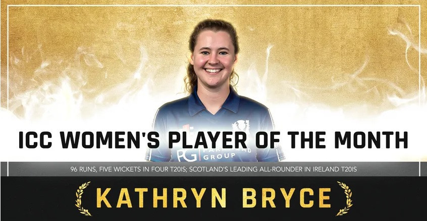 Kathryn Bryce is the ICC Women's Player of the Month for May ©ICC