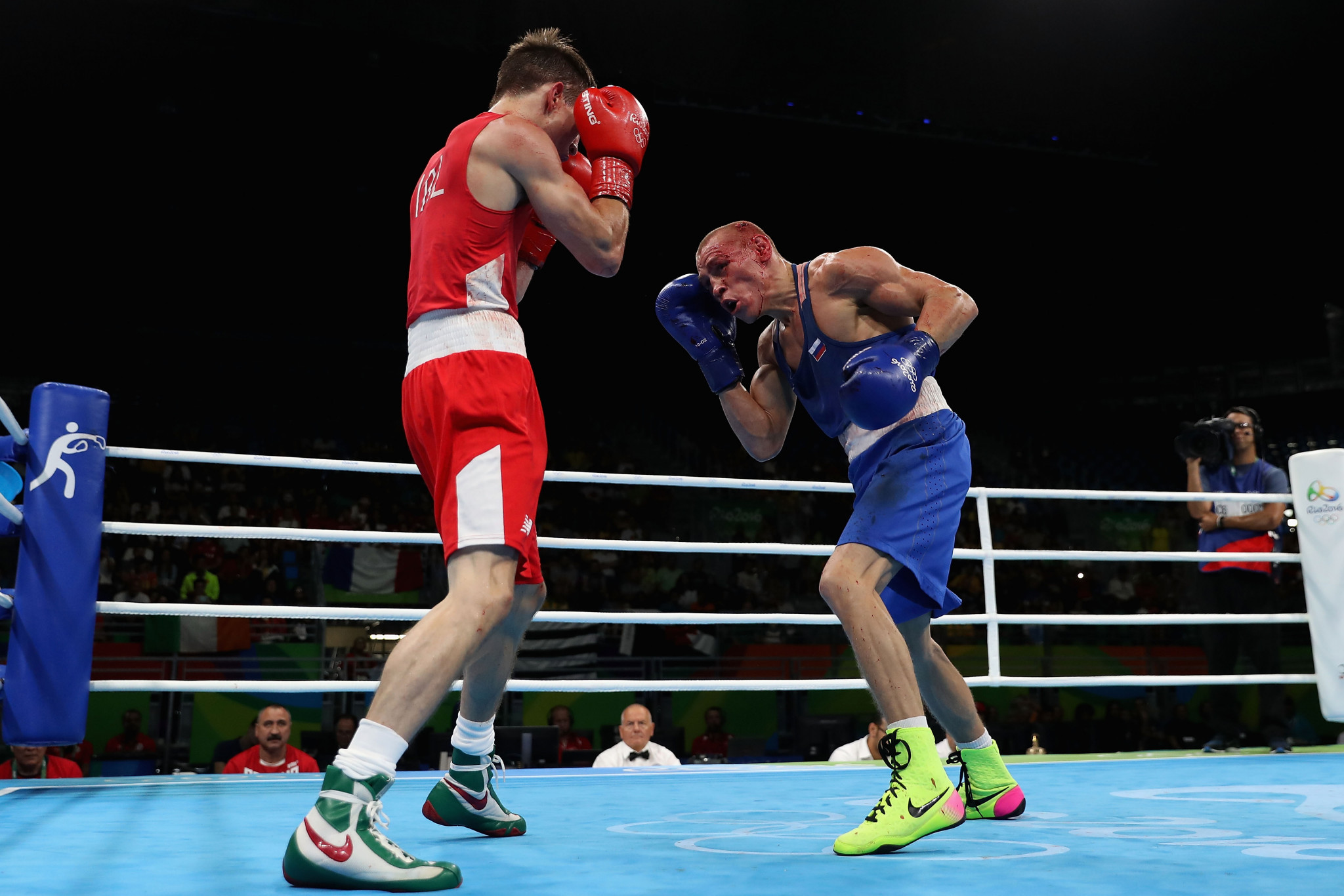 The controversial bout controversial bout between Ireland's Michael Conlan and Russia's Vladimir Nikitin at Rio 2016 is sure at the centre of Richard McLaren's investigation ©Getty Images