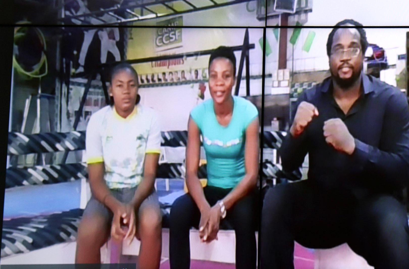 Choue praises taekwondo women's 4,000km overland journey to African Championships