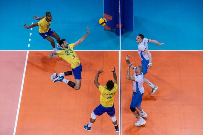 Brazil remain top of the men's Volleyball Nations League after beating