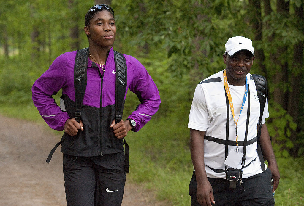 Michael Seme, right, pictured with Caster Semenya ©Getty Images