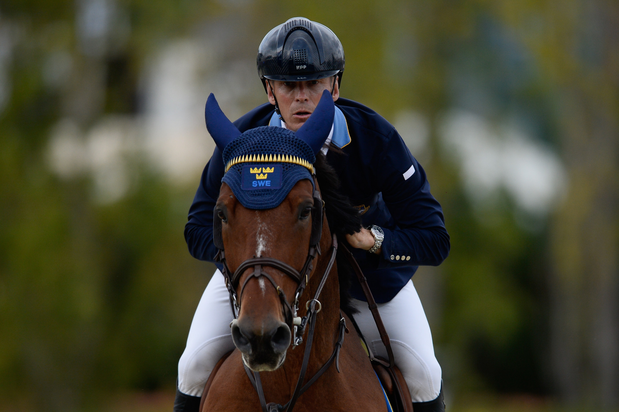Peder Fredricson leads the standings after four events ©Getty Images