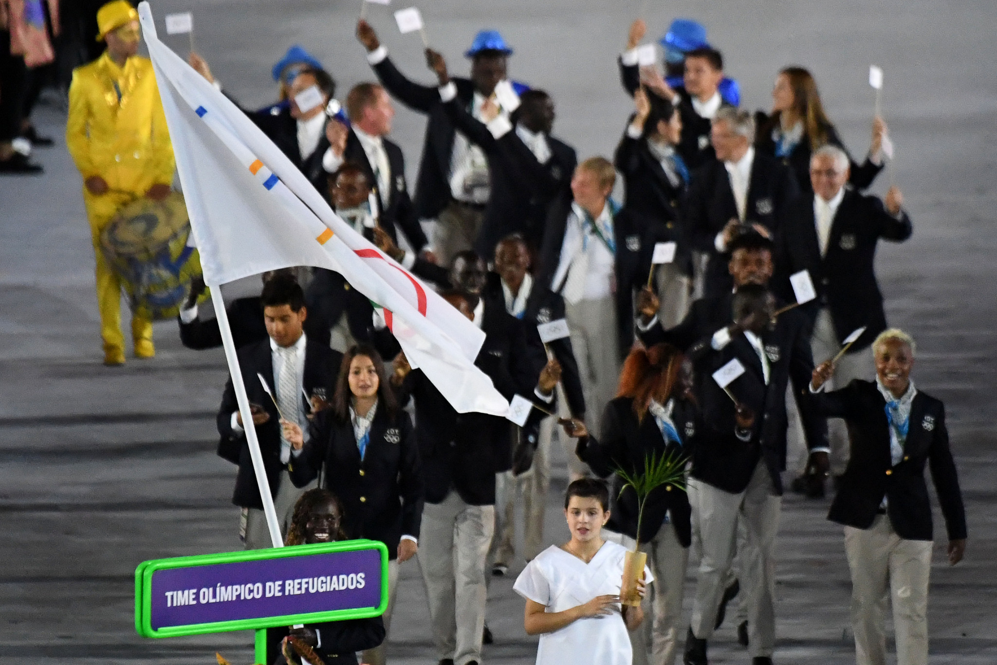 The Refugee Olympic Team helped inspire the formation of Make a Mark ©Getty Images