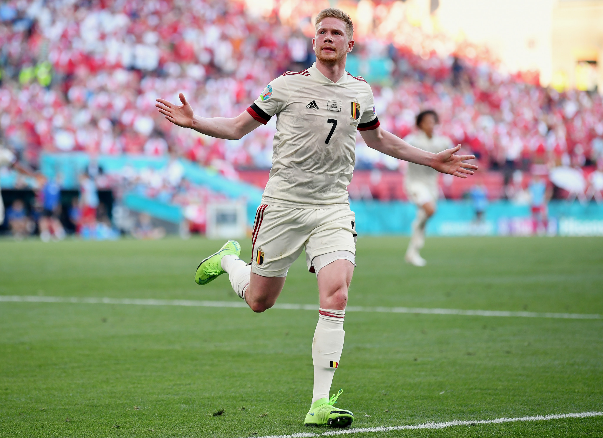 Kevin De Bruyne scored one goal and set another up in Belgium's come-from-behind victory over Denmark ©Getty Images