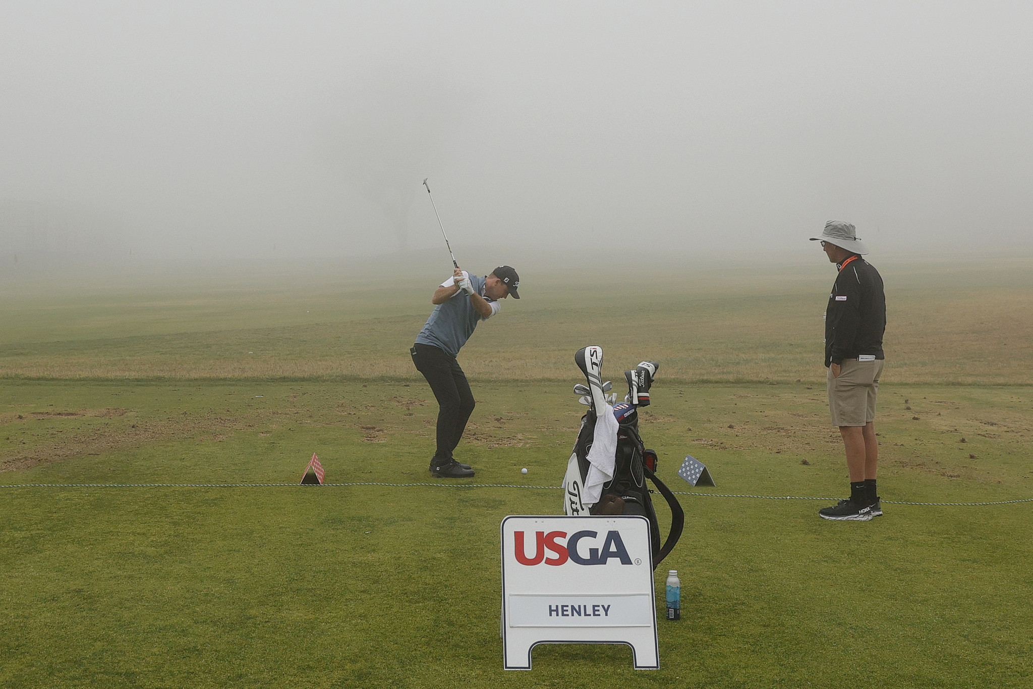 Thick fog forced the opening day of the US Open to be delayed by over an hour ©Getty Images