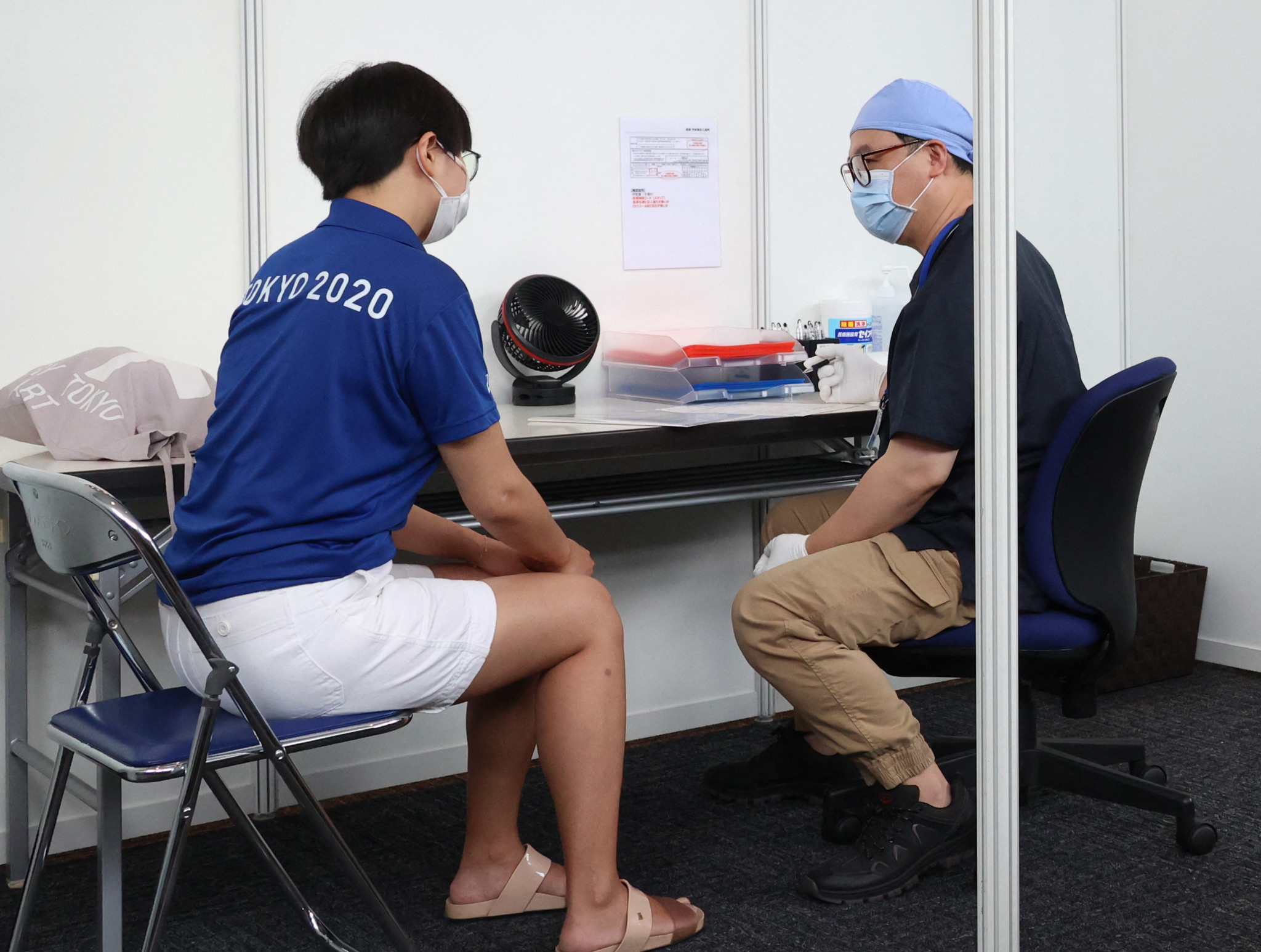 A total of 2,500 workers are expected to receive a dose of the COVID-19 vaccine per day ahead of the Games ©Getty Images