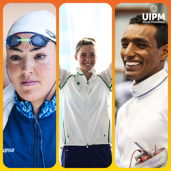 Pamela Zapata of Argentina, left, Ireland's Natalya Coyle and Yasser Hefny of Egypt have been elected to the UIPM Athletes' Committee ©UIPM