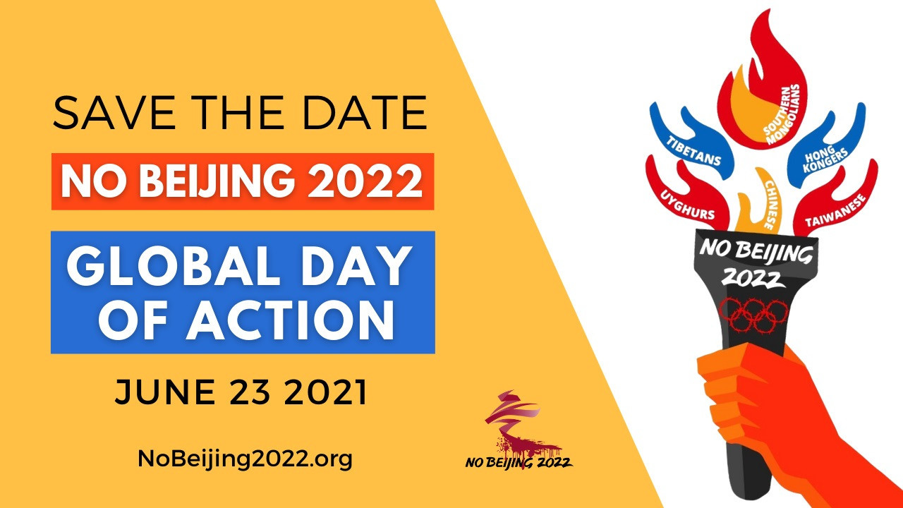 Protests are set to be held across 50 cities around the world against the staging of the Beijing 2022 Winter Olympic and Paralympic Games ©No Beijing 2022