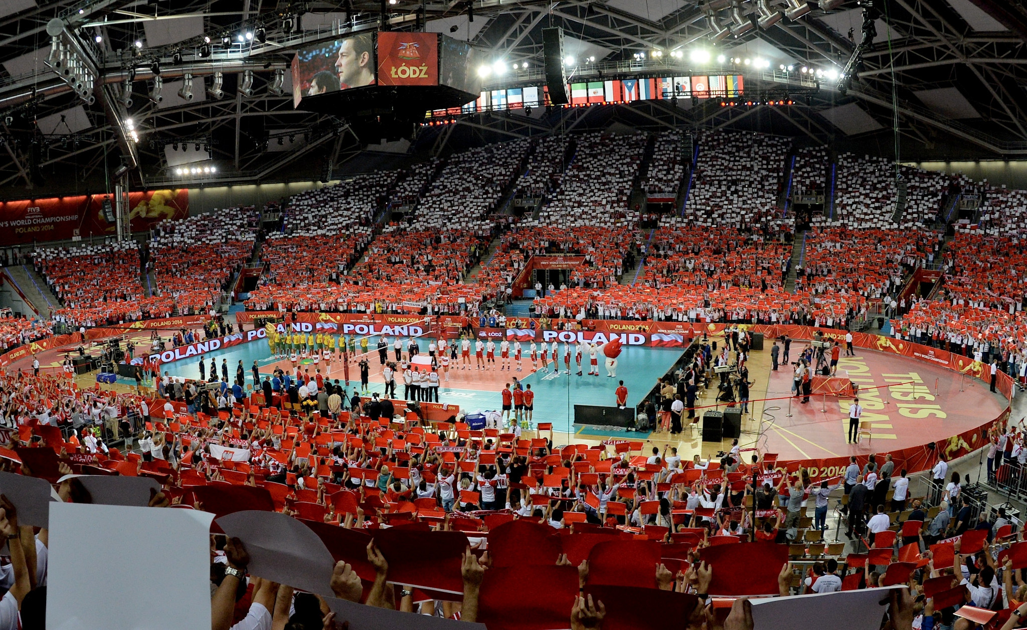 Lodz hosting a match at the World Volleyball Championships in 2014 ©Getty Images