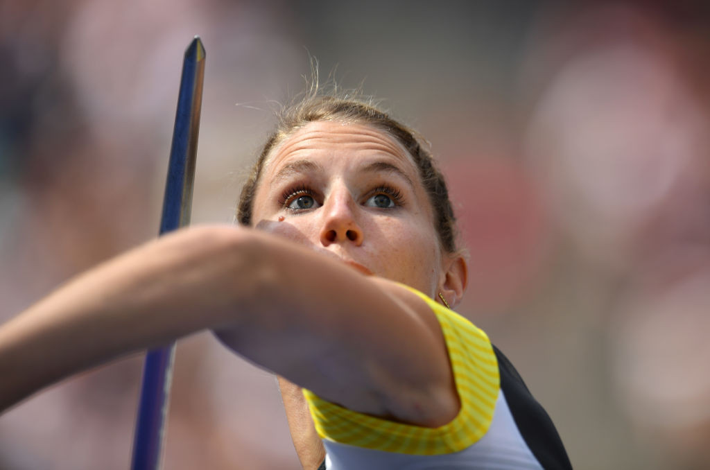 Germany's Carolin Schafer has the Tokyo 2020 heptathlon qualifying mark but wants to demonstrate sharpness at this weekend's World Athletics Challenge Combined Events meeting in Rattingen ©Getty Images