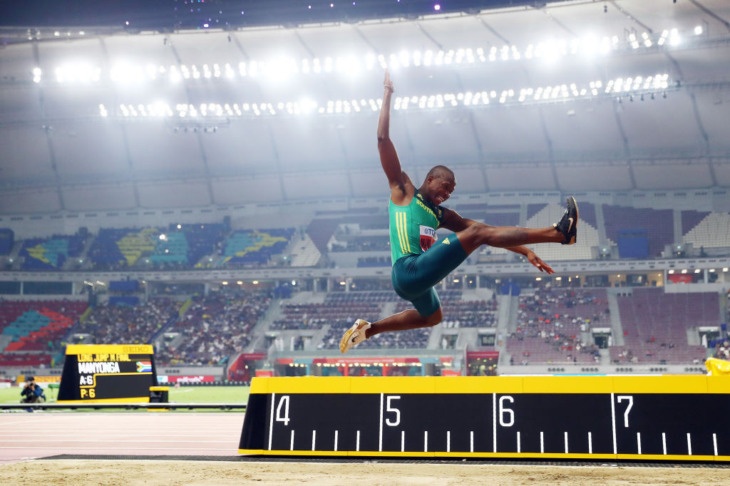 South Africa's Manyonga, who fought drug addition to become world long jump champion, given four-year whereabouts ban