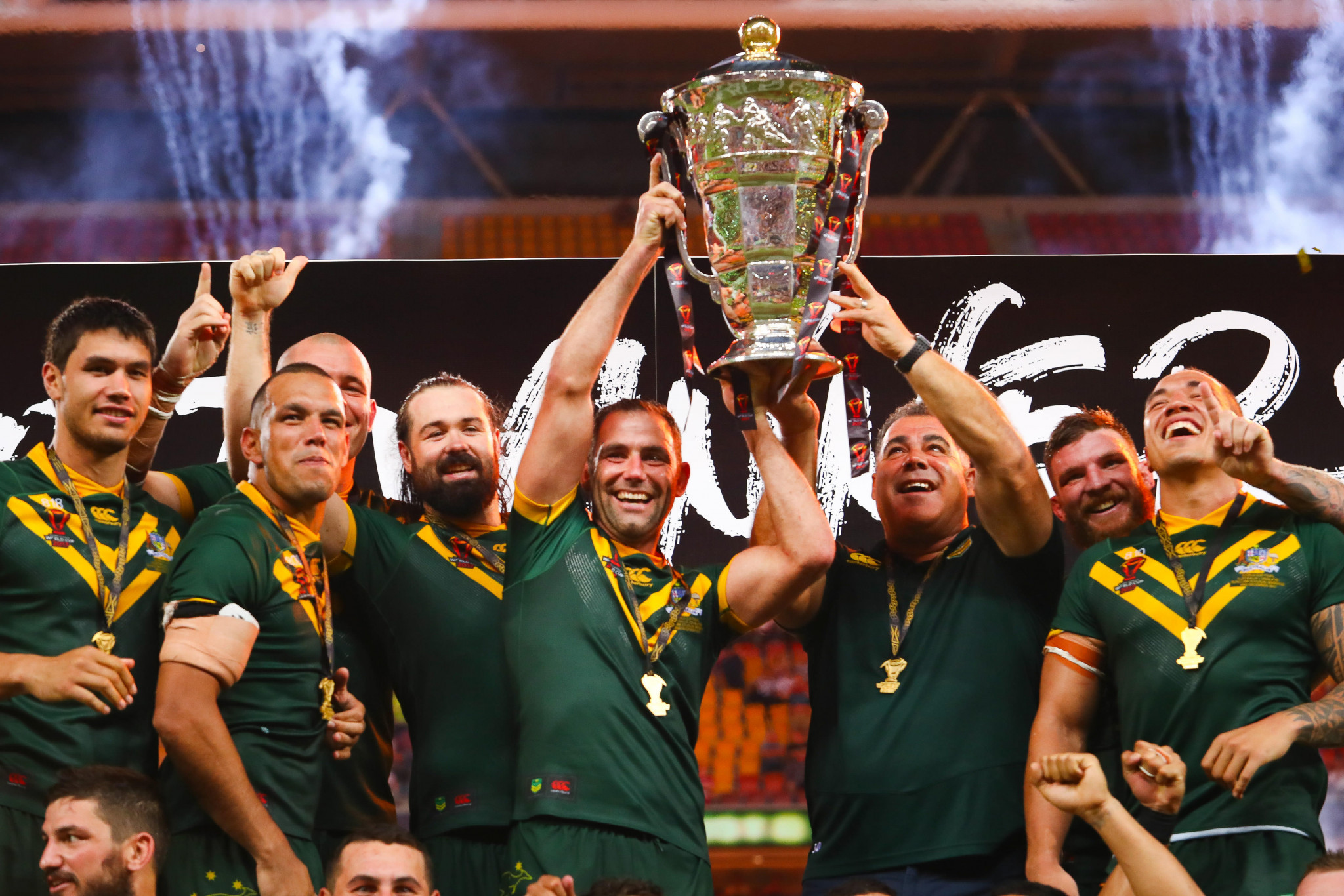 Australia are hoping to defend the men's Rugby League World Cup title in England later this year ©Getty Images