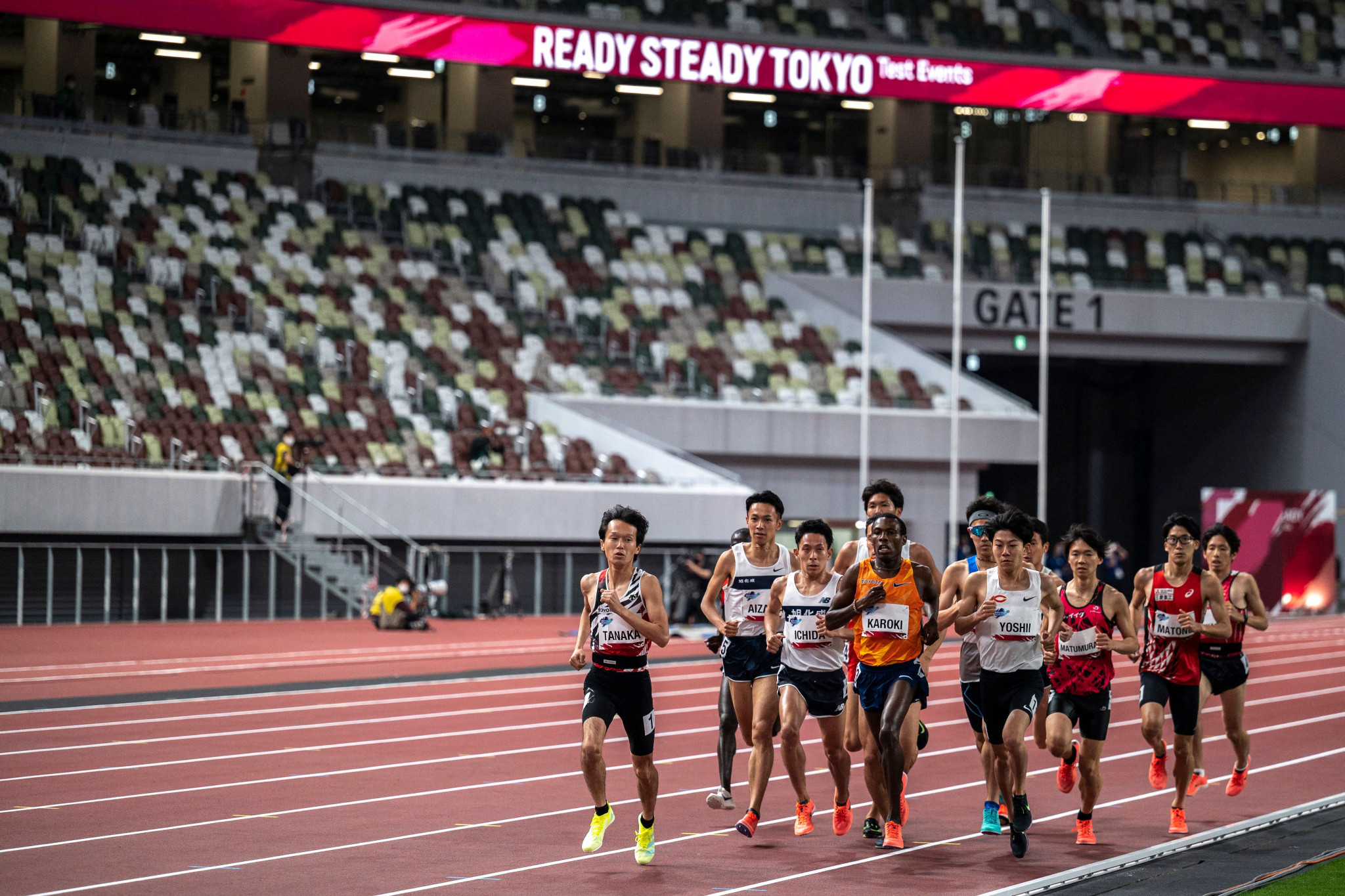 Test events at Tokyo's National Stadium were held behind closed doors last month, but 10,000 spectators are set to be allowed inside large sporting venues from tomorrow ©Getty Images