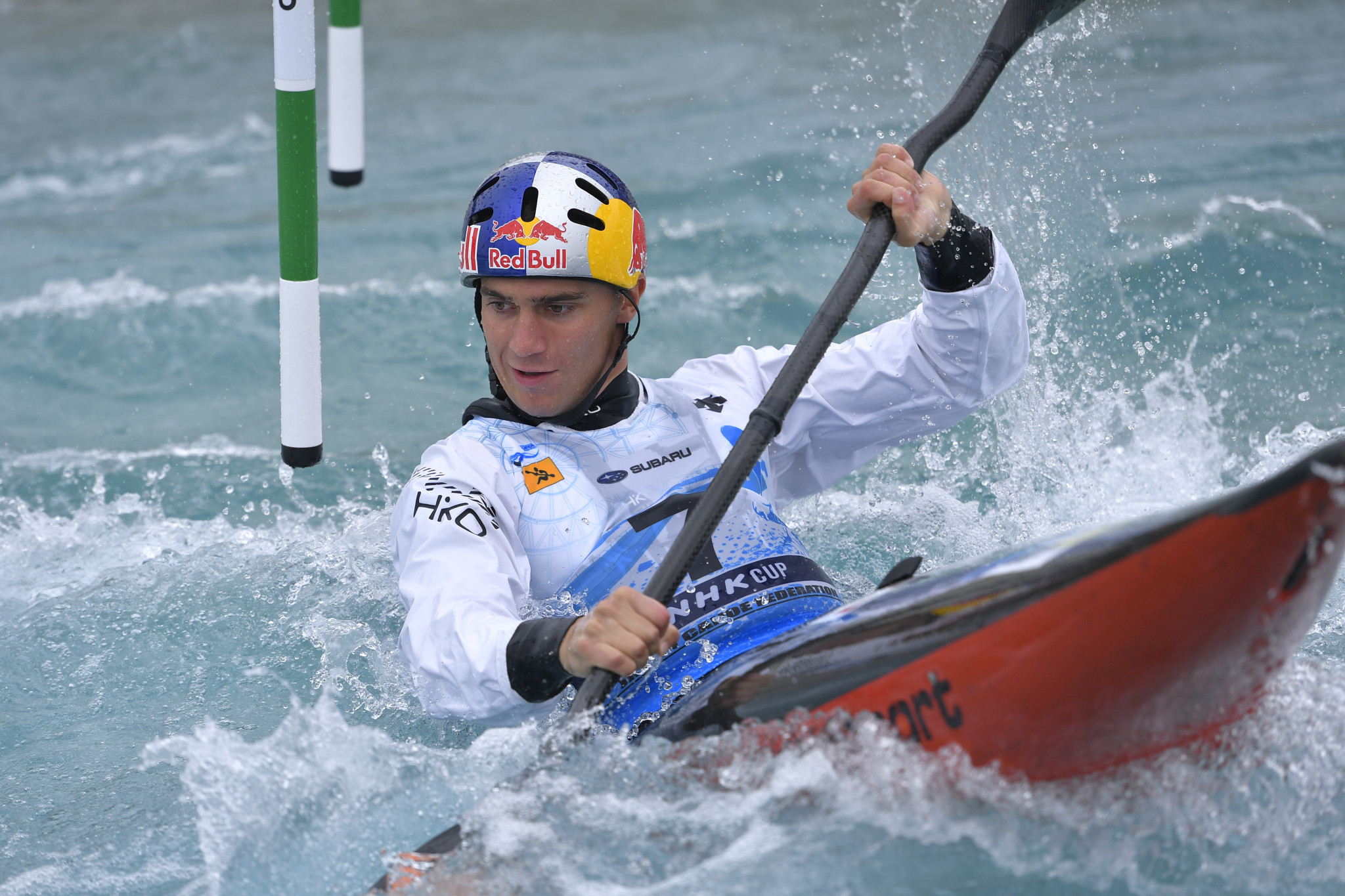 Jakub Grigar sent out a message of intent to his Tokyo 2020 rivals with an impressive performance in the men's K1 event in Germany ©Getty Images
