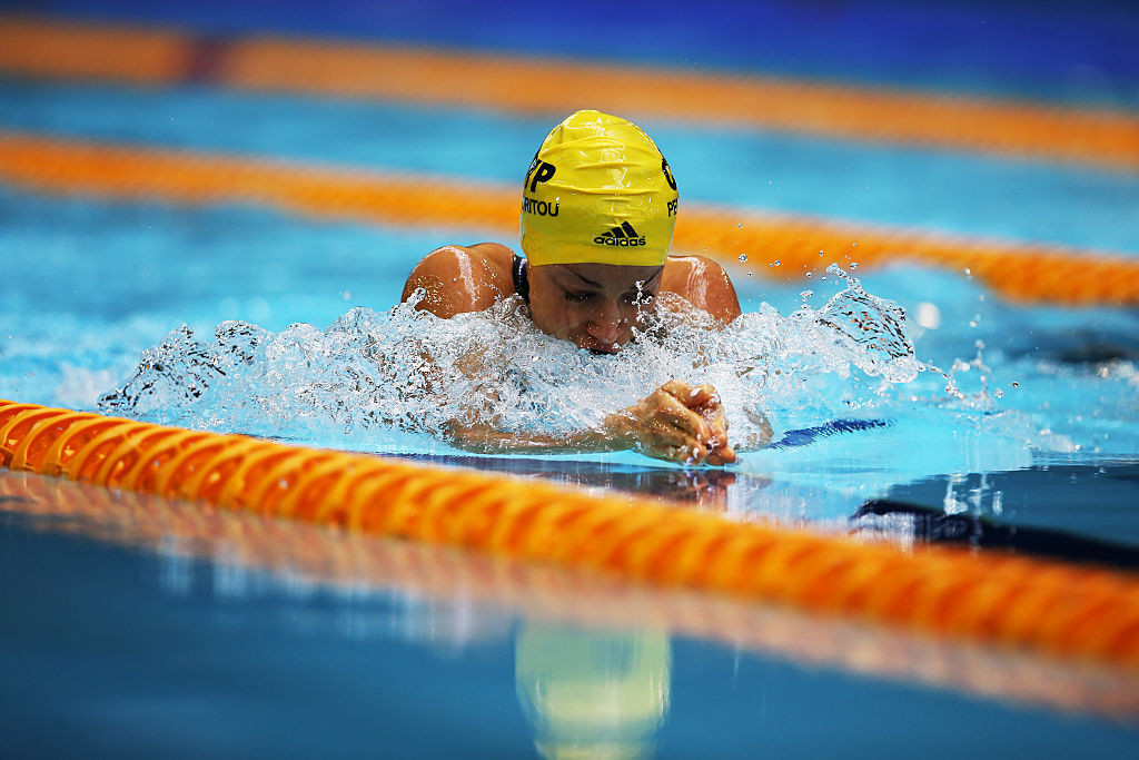 Karolina Pelendritou of Cyprus set three world records today at the World Para Swimming World Series event in Berlin ©Getty Images