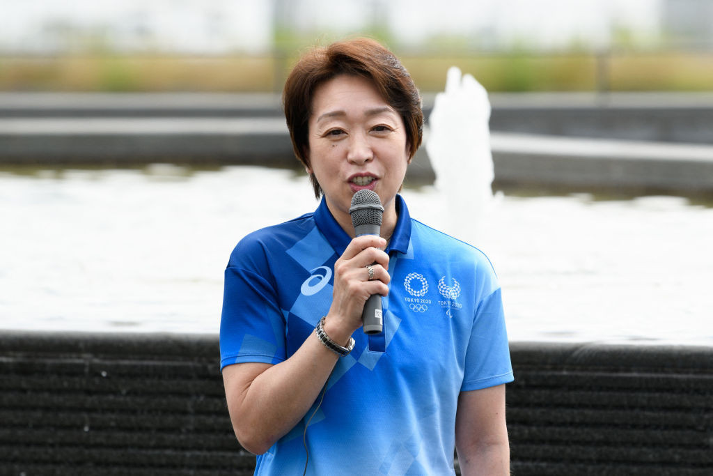 Tokyo 2020 President Seiko Hashimoto has refused to rule out the Games taking place behind closed doors ©Getty Images