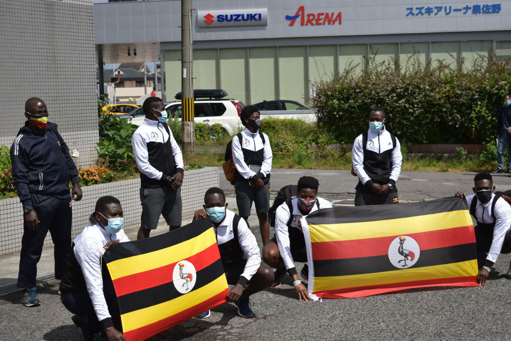 The Ugandan team has arrived in its host town of Izumisano ©Getty Images