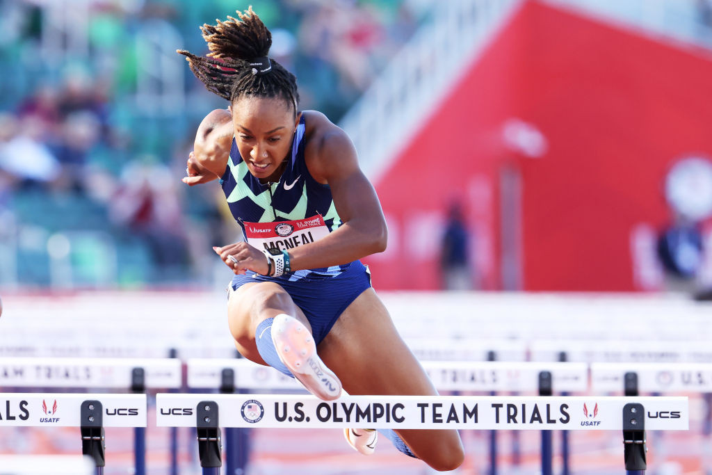 Rio 2016 100m hurdles champion Brianna McNeal earned the right to defend her title in Tokyo after finishing second in the US trials - but may lose it if she loses her appeal to the Court of Arbitration for Sport against a five-year ban ©Getty Images