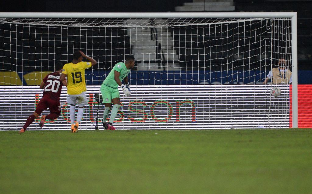 Ronald Hernández anotó el empate final en la final 2-2 de Venezuela contra Ecuador © Getty Images