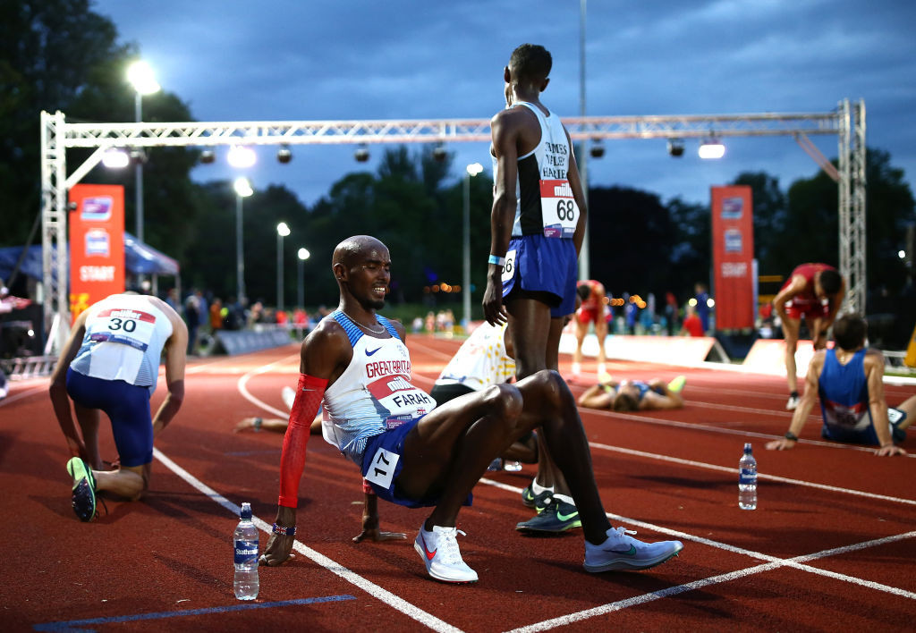 Sir Mo Farah missed the Olympic 10,000m qualifying time by 22 seconds in Birmingham earlier this month and has a last chance to get it in Manchester this Friday ©Getty Images